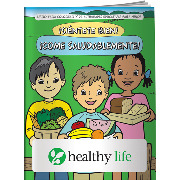 Custom Coloring Book - Feel Good! Eat Healthy! (Spanish)
