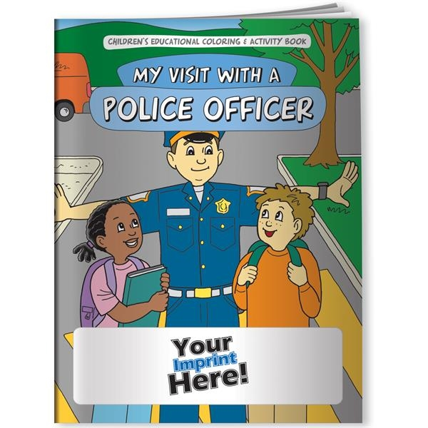 Customized Coloring Book - My Visit With a Police Officer
