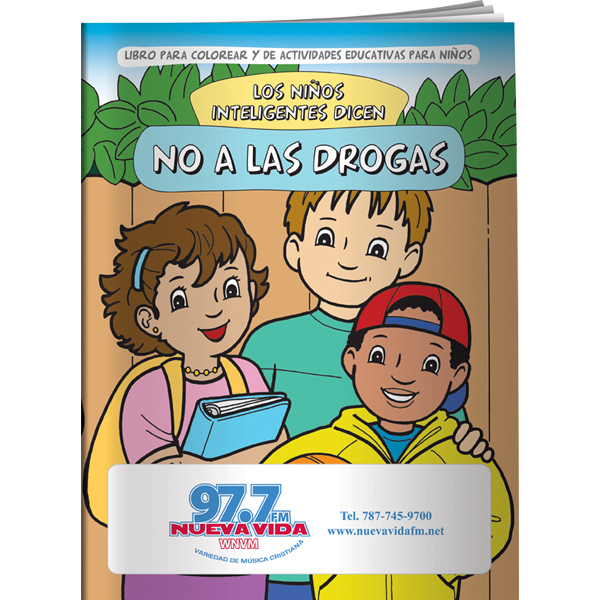 Imprinted Coloring Book - Smart Kids Say NO to Drugs! (Spanish)