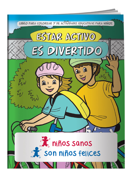 Personalized Coloring Book - Fitness is Fun (Spanish)
