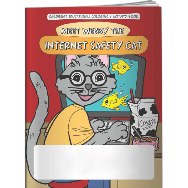 Personalized Coloring Book - Meet Webby The Internet Safety Cat