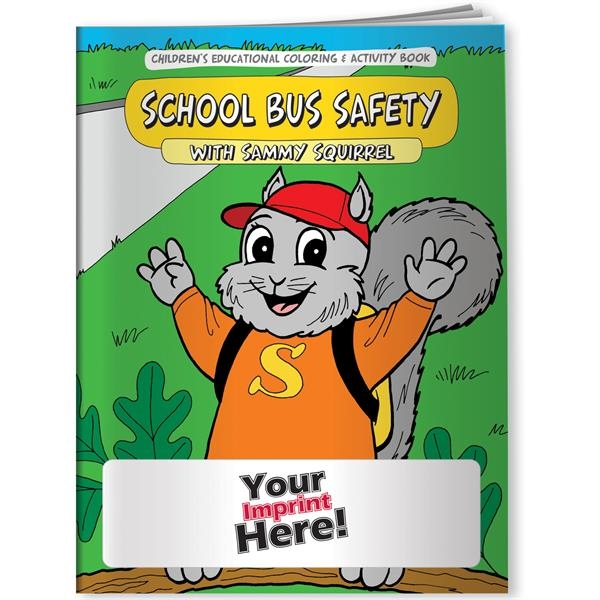 Personalized Coloring Book - School Bus Safety with Sammy Squirrel