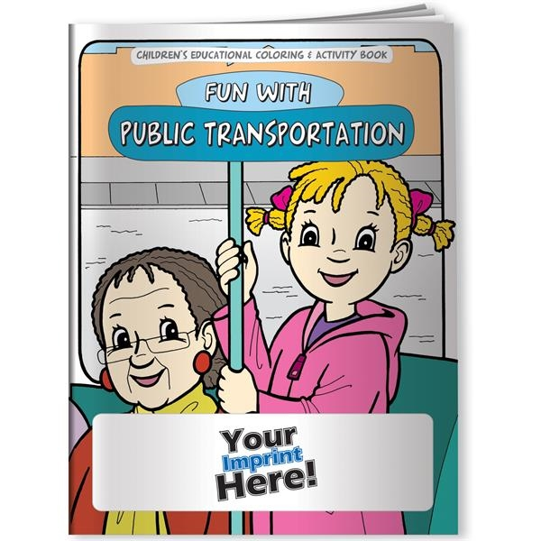 Imprinted Coloring Book - Fun With Public Transportation