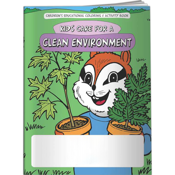 Custom Coloring Book - Kids Care for a Clean Environment