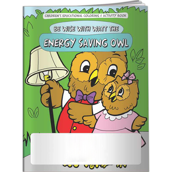 Printed Coloring Book - Be Wise with Watt the Energy Saving Owl