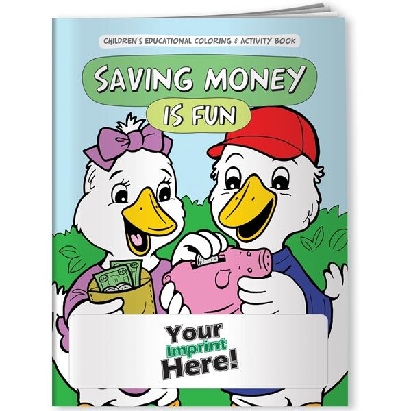 Customized Coloring Book - Saving Money is Fun