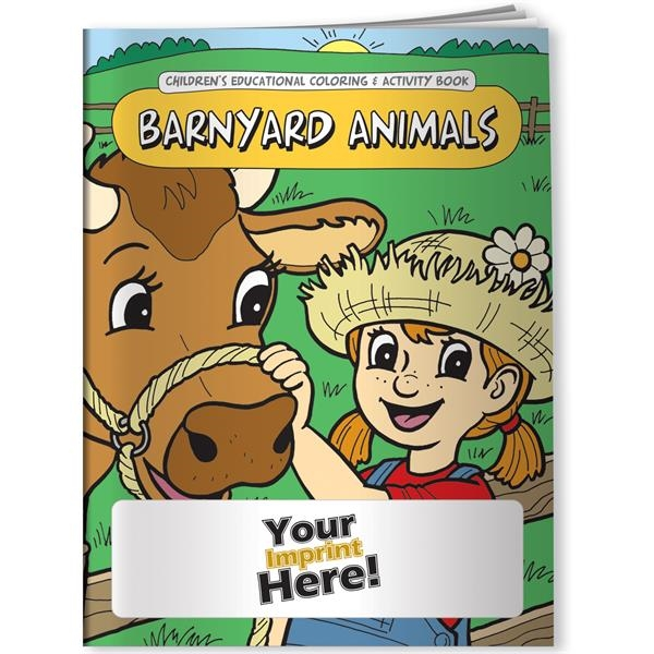 Custom Coloring Book - Barnyard Animals