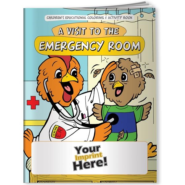 Imprinted Coloring Book - A Visit to the Emergency Room