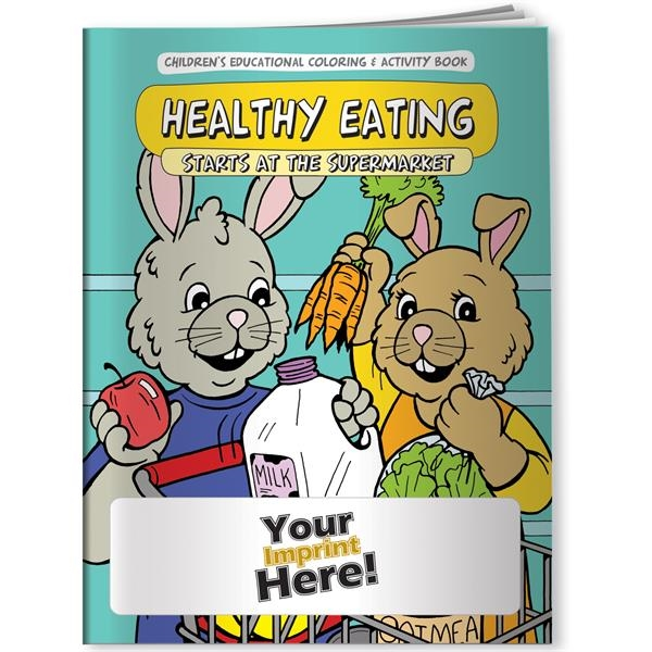 Imprinted Coloring Book - Healthy Eating Starts at the Supermarket