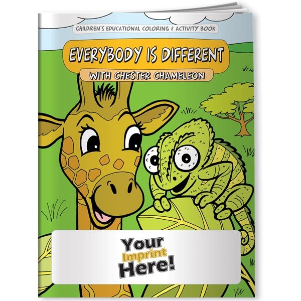 Personalized Coloring Book - Everybody is Different with Chester Chameleo