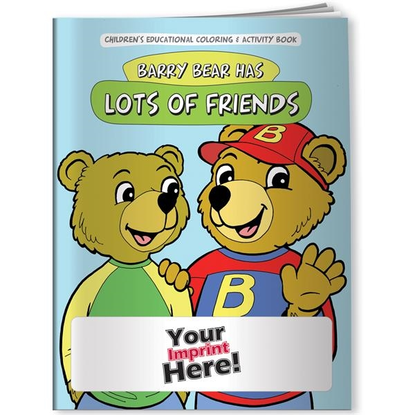 Customized Coloring Book - Barry Bear Has Lots of Friends
