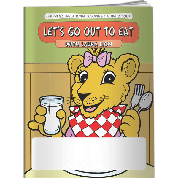 Customized Coloring Book - Let's Go Out to Eat with Laura Lion