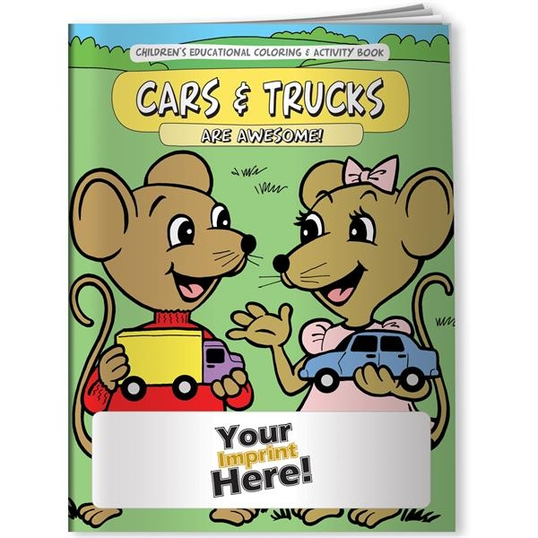 Custom Coloring Book - Cars and Trucks Are Awesome!