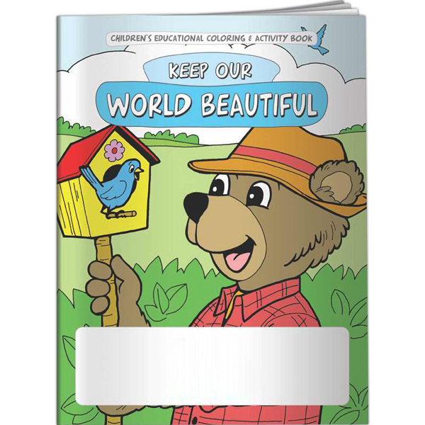 Imprinted Coloring Book - Keep Our World Beautiful