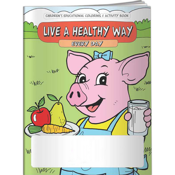 Custom Coloring Book - Live a Healthy Way Every Day