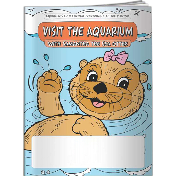 Personalized Coloring Book - Visit the Aquarium with Samantha the Sea Ott