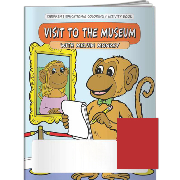 Custom Coloring Book - My Visit to the Museum with Melvin Monkey