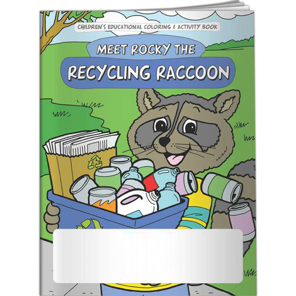 Imprinted Coloring Book - Meet Rocky the Recycling Raccoon