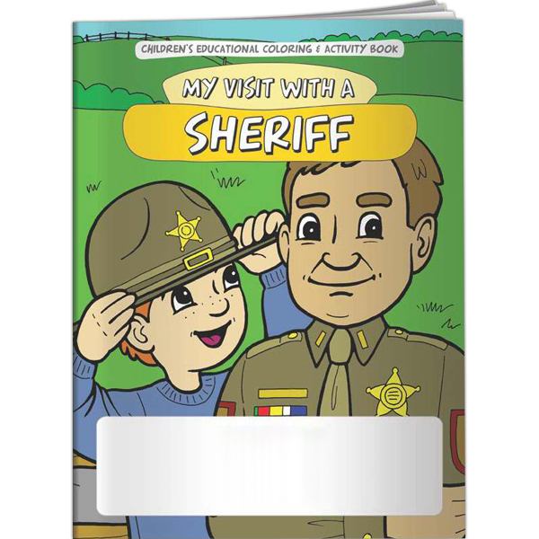 Customized Coloring Book - My Visit with a Sheriff