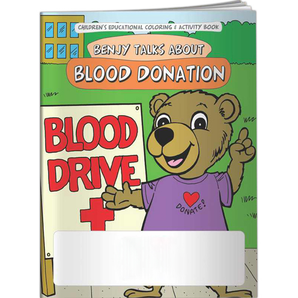 Imprinted Coloring Book - Benjy Talks About Blood Donation