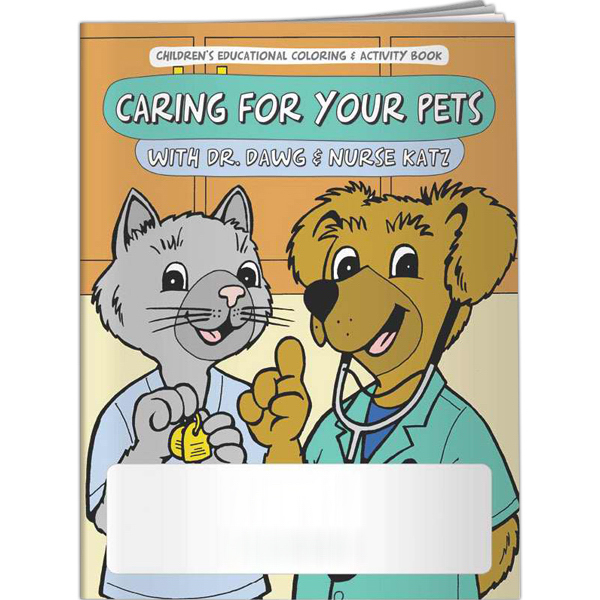 Printed Coloring Book - Caring For Your Pets w/Dr. Dawg & Nurse Katz