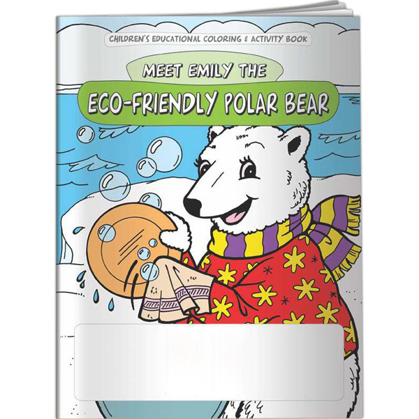 Imprinted Coloring Book - Meet Emily the Eco-Friendly Polar Bear