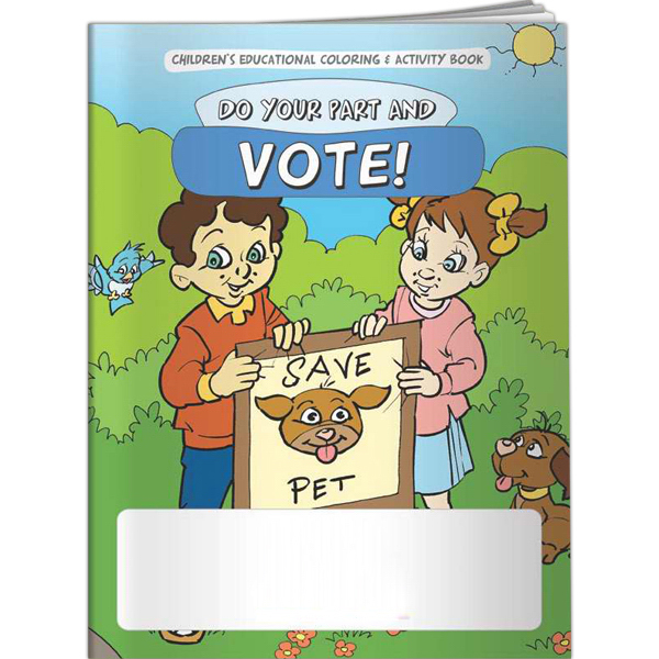 Promotional Coloring Book - Do Your Part and Vote