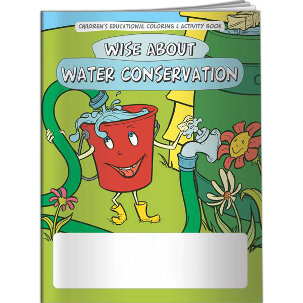Imprinted Coloring Book - Wise About Water Conservation