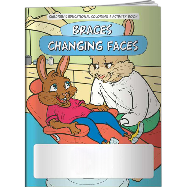 Imprinted Coloring Book - Braces Changing Faces
