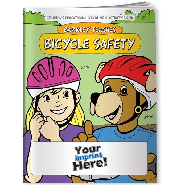 Imprinted Coloring Book - Barkley Teaches Bicycle Safety