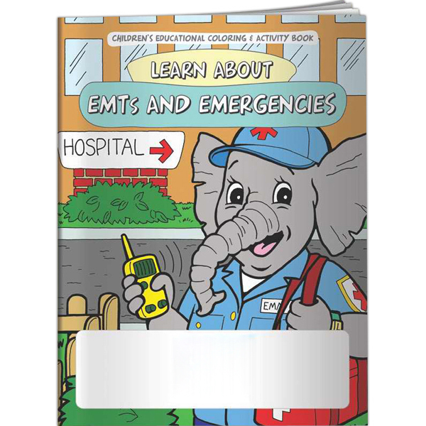 Imprinted Coloring Book - Learn About EMTs and Emergencies