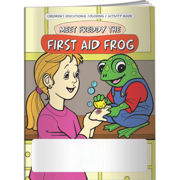 Imprinted Coloring Book - Meet Freddy the First Aid Frog