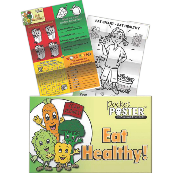 Printed Pocket Posters - Eat Healthy!