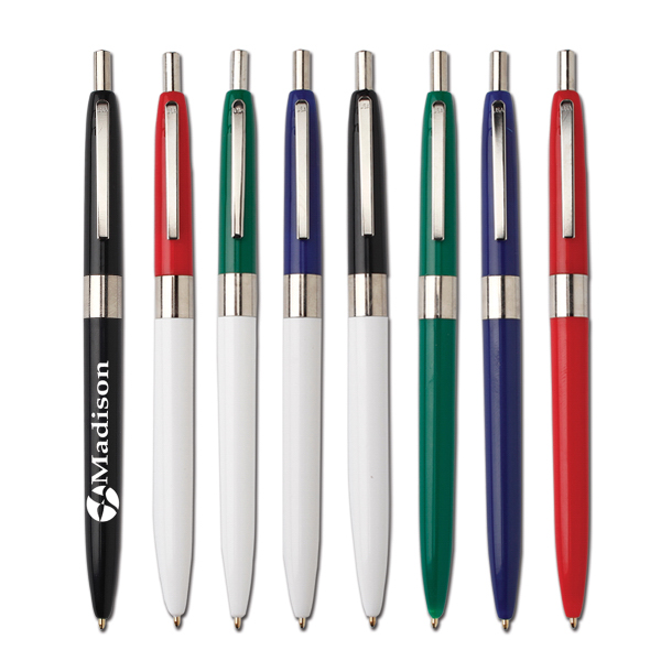 Imprinted Chrome trim pen