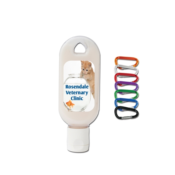 Imprinted Unscented Skin Lotion Press-Top Tottle Bottle with Carabiner