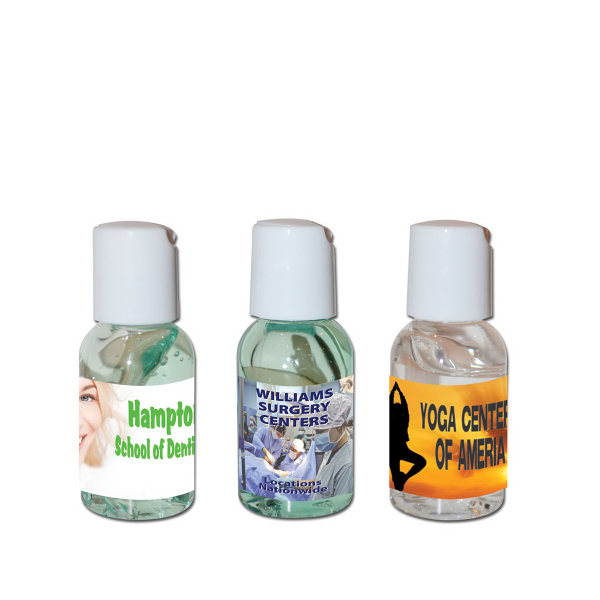 Customized 1 oz. Hand Sanitizing Gel Press-Top