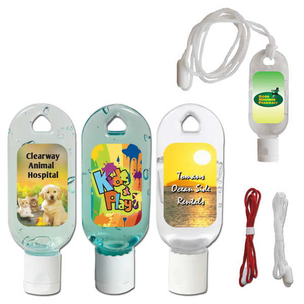 Personalized 1 oz. Hand Sanitizing Gel Flip-Top Bottle