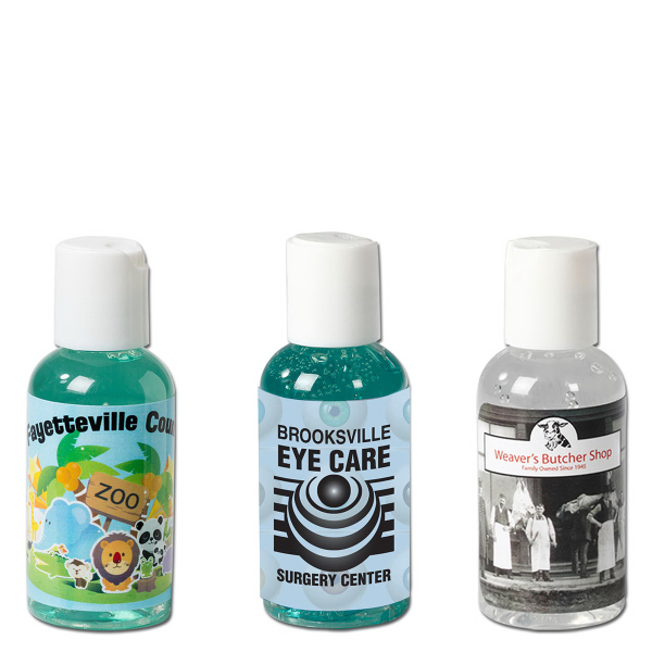 Imprinted 2 oz. Antimicrobial Hand Sanitizing Gel Press-Top Bottle