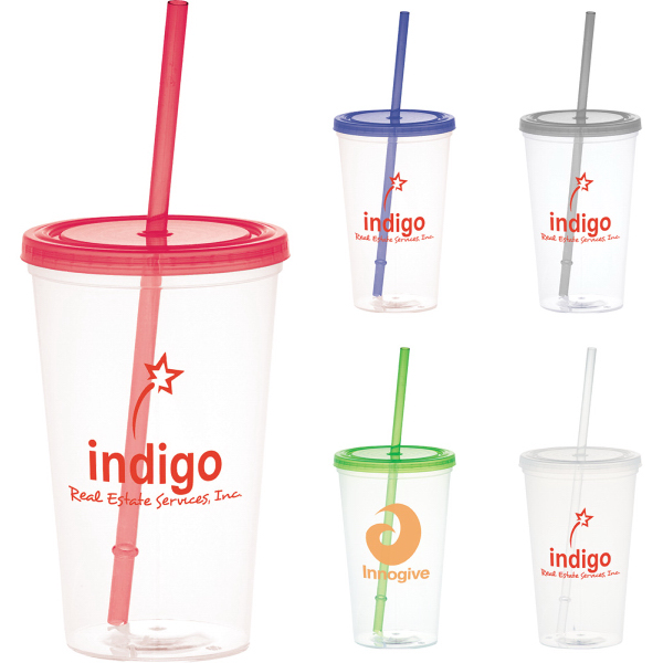 Promotional Glacier 20-oz. Tumbler With Straw