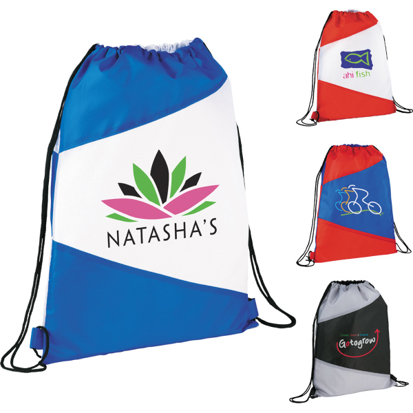 Promotional The Pennant Drawstring Cinch Backpack