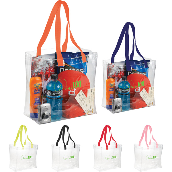 Printed Rally Clear Tote