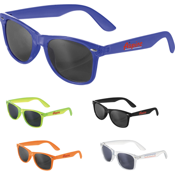 Imprinted The Sun Ray Sunglasses - Crystal