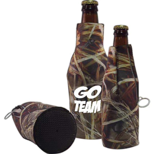 Promotional Neoprene Zipper Bottle with Glued Bottom