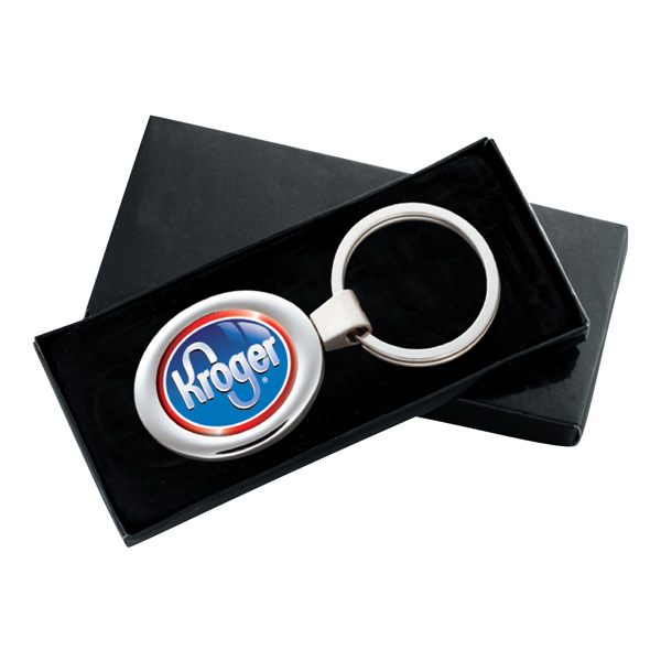 Custom PhotoVision oval key ring