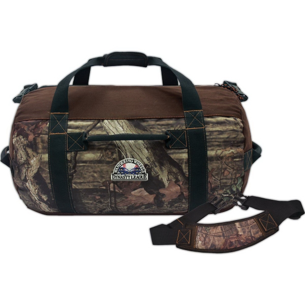 "Customized Mossy Oak 24"" barrel duffel"