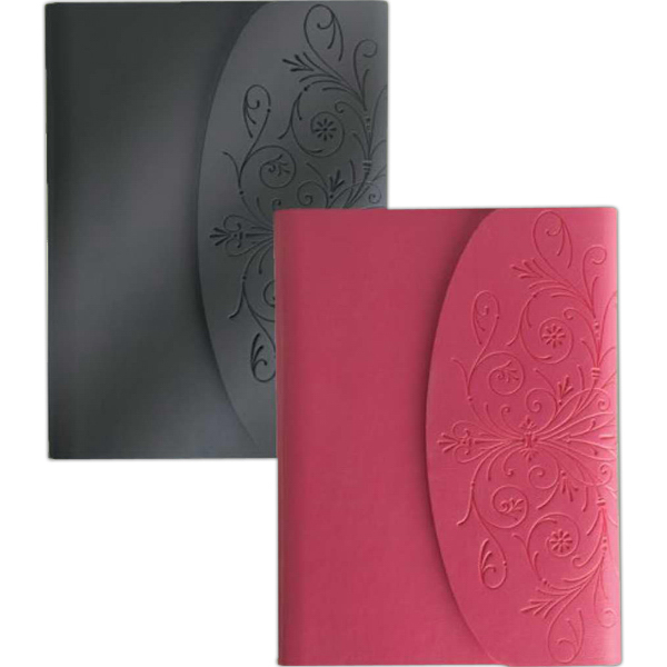 Imprinted Metallic Flap Journal