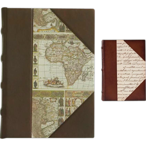 Personalized Italian Paper And Leather Journal