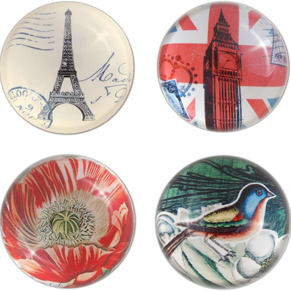 Promotional World's Fair Collection Glass Paperweight