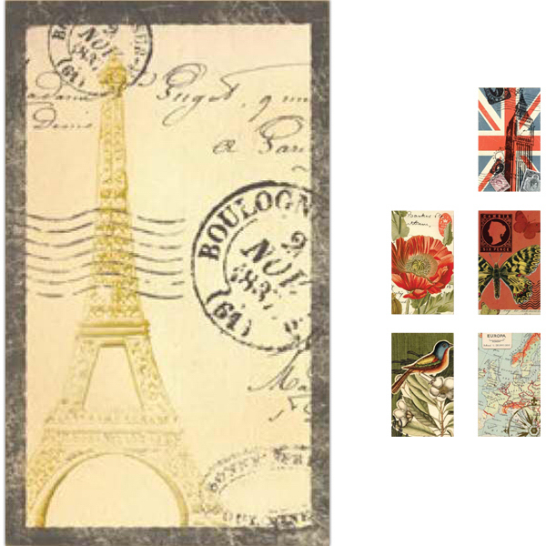 Customized World's Fair Collection Covered Memo Pad