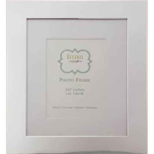 Imprinted Silver Collection Wide Border With Matting Frame